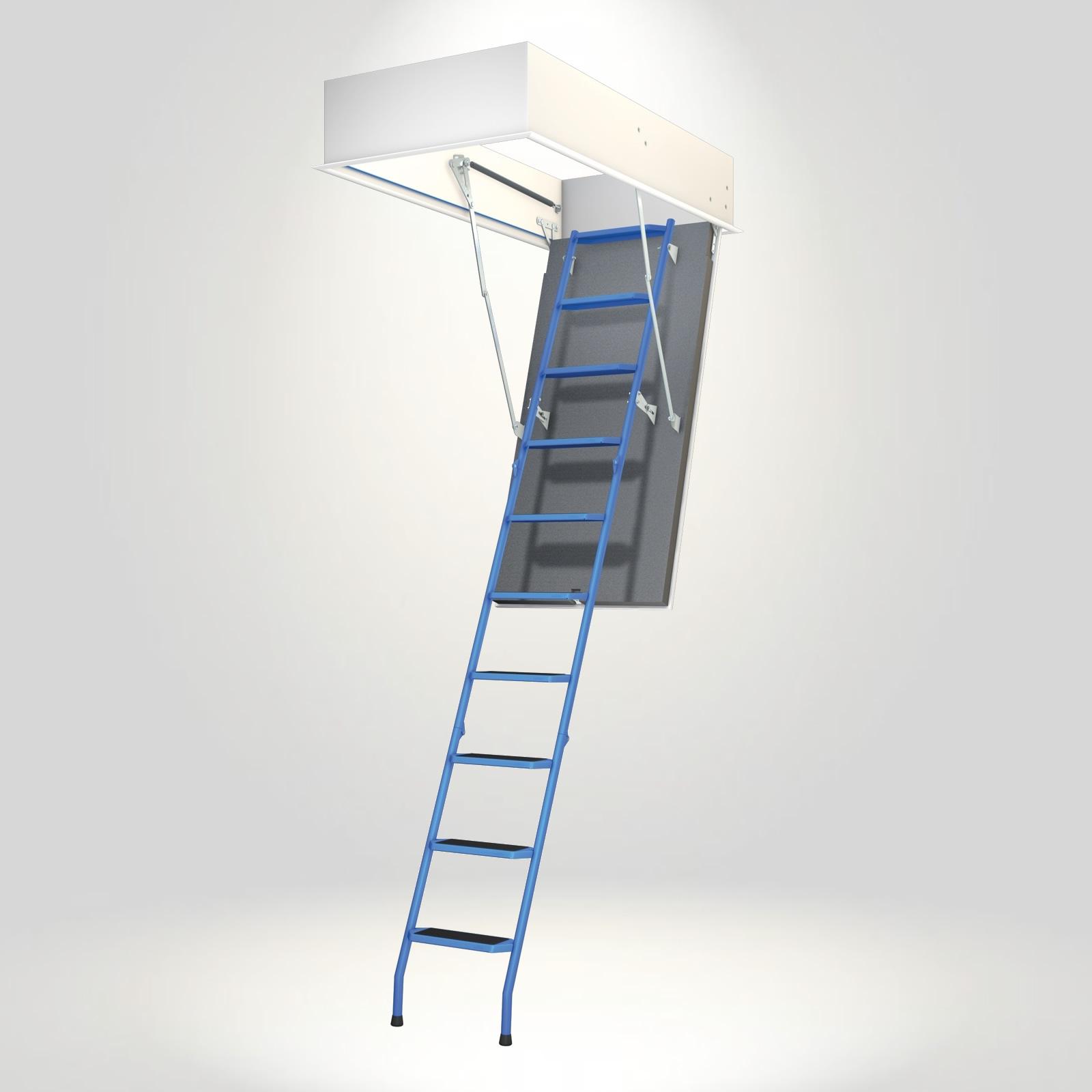 Wellhöfer Bodentreppe Stahlblau(Maßanfertigung)